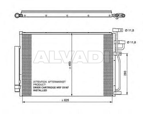 AC condenser 96436393 for CHEVROLET CAPTIVA (KLAC)