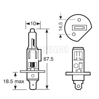 H1 12V 100W Sokkel P14,5s
